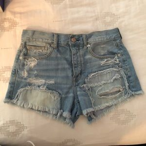 AMAZING CONDITION HIGH WAISTED AE SHORTS